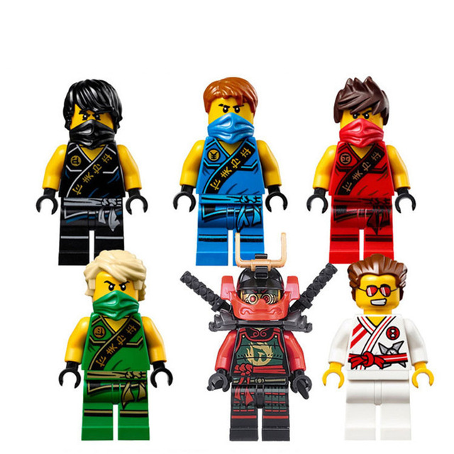 1ps Ninja Heroes Kai Jay Cole Zane Nya Lloyd Motorcycle With Weapons Building Blocks Figure Compatible Legoinglys Ninjagoinglys #5