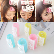 3pcs/set-Korean Version Of Woman Plate Hair Set Pear Head Curler Big And Small Cylinder Plastic Roll Accessories