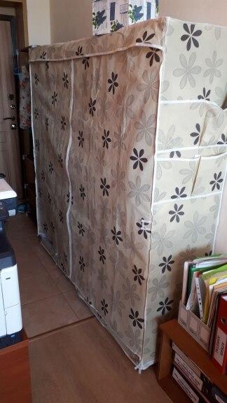Современный простой гардероб бытовые ткани складной ткани гардероб сборки хранения King Размеры подкрепление Комбинации просто шкаф