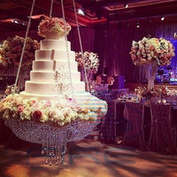 Wedding Cake Stand Transparent Crystal Beads Acrylic Main Table Size:Dia 18x1.6Meters Cake Decorating Supply