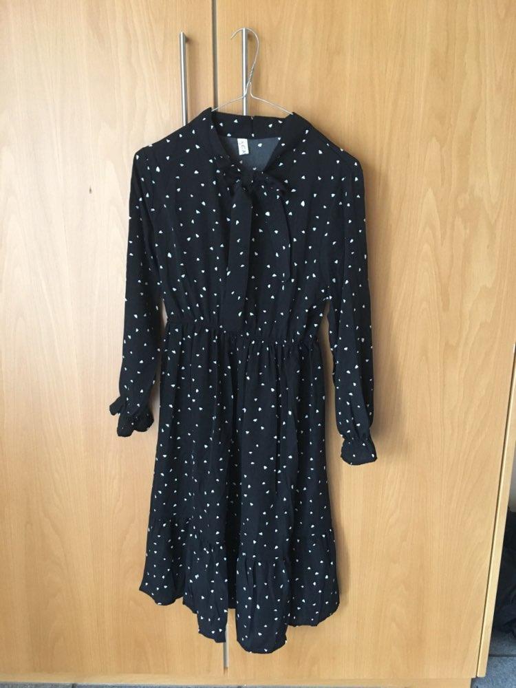 Chiffon Dress Stand Neck Floral Print Dress Ruffles Long Sleeve Elegant Dresses S Xl For Women Spring Summer photo review