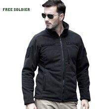 FREE SOLDIER пальто мужское тактическое , тёплая военно-походная мужская флисовая кофта для кэмпинга и горного туризма