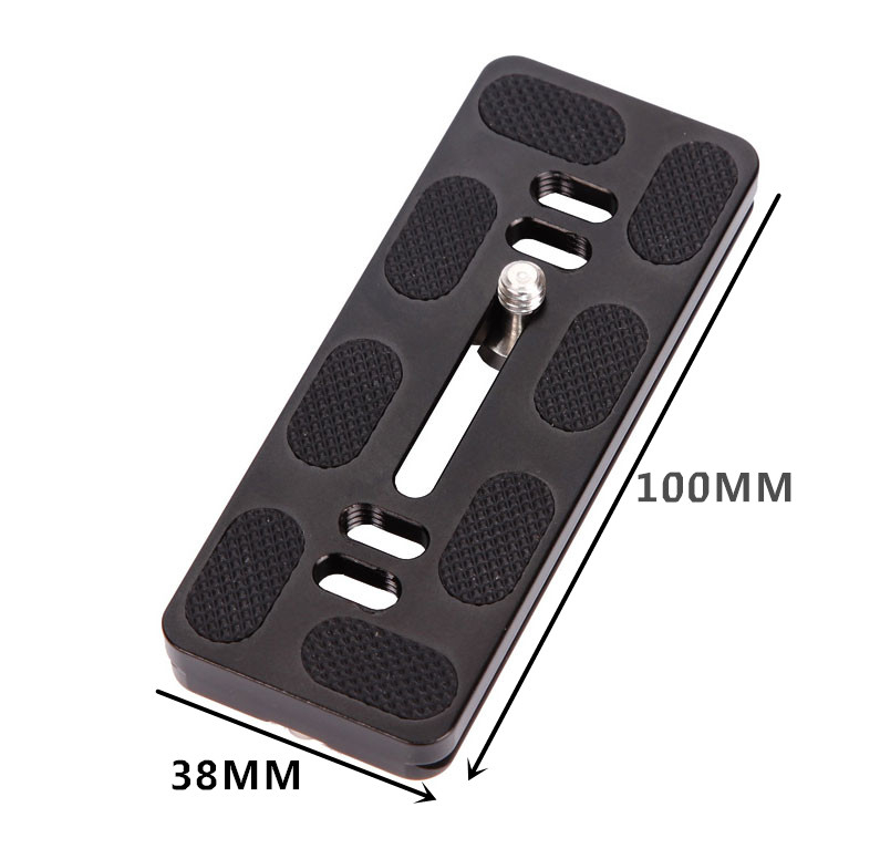 2pcs PU100 Quick Release Plate PU-100 With 1/4 inch Mounting Screw for digital camera Tripod ball head accessories