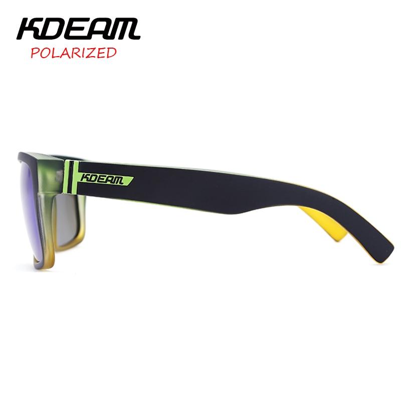 9e32755686 KDEAM Polarized Sunglasses 2017 New Men Square Sun Glasses Women Party Mirror  lens Sport Elmore 6 ...
