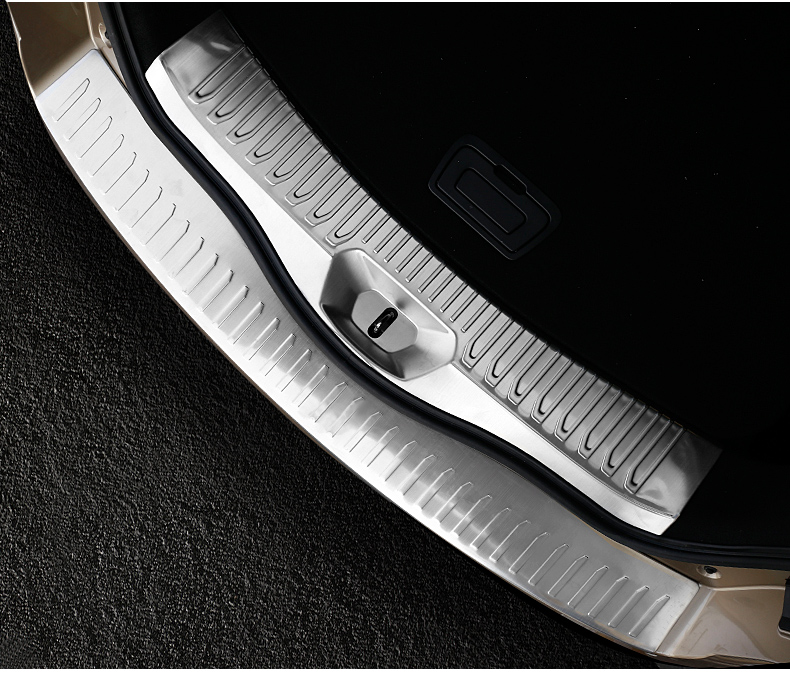 High Quality Stainless steel Rear Trunk Bumper Protector Guard Plate Trim 2pcs for Renault 2017 Koleos accessories car rear trunk security shield cargo cover for volkswagen vw tiguan 2016 2017 2018 high qualit black beige auto accessories