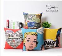 45x45 cm Vintage Pop Phong Cách Nghệ Thuật Marilyn Monroe cotton linen cushion covers thắt lưng gối sofa trang trí màu case cho gối cove