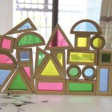 FZ-1 Kreatív Akril Szivárvány Oktató Játéktorony Gyermek Gyerekek Diy Fa Összeszerelés Építőelem