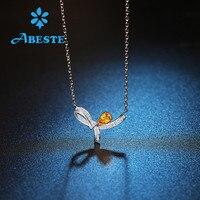 ANI 18 К к Solid White/Rose/желтое золото для женщин Свадебные цепочки и ожерелья 0,19 ct настоящий бриллиант Обручальная подвеска ожерелье цепи