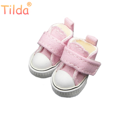 Tilda 3.5cm Mini Doll Shoes For Blythe Doll,Mini Toy Doll 1/6,Canvas Sneakers Casual Shoes for BJD Doll,High Quality One Pair