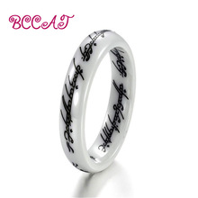 BCCART New Fashion National Style Ceramic Rings Elegant Handmade Painting Party For Women Personality Jewelry Nice Gift