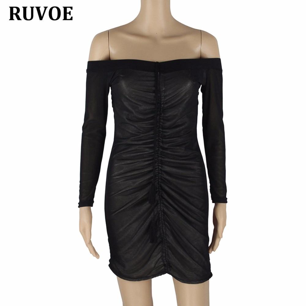 Kim Kardashian Outfit Party Dresses Slash Neck Sexy Black Mesh - kim-kardashian-outfits-dresses