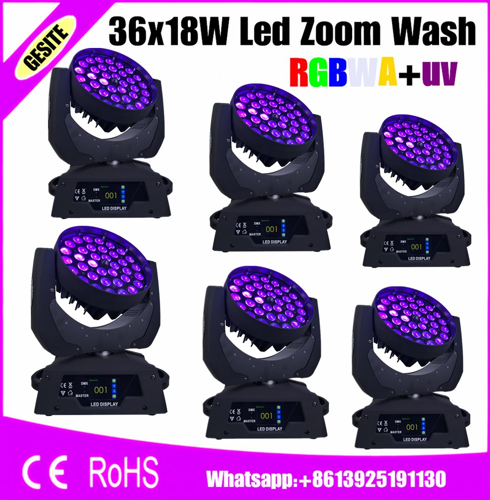 Lights & Lighting 6pcs/lot Robe Robin 600 6in1 Rgbwauv 36x18w Led Moving Head Wash Zoom Extremely Efficient In Preserving Heat