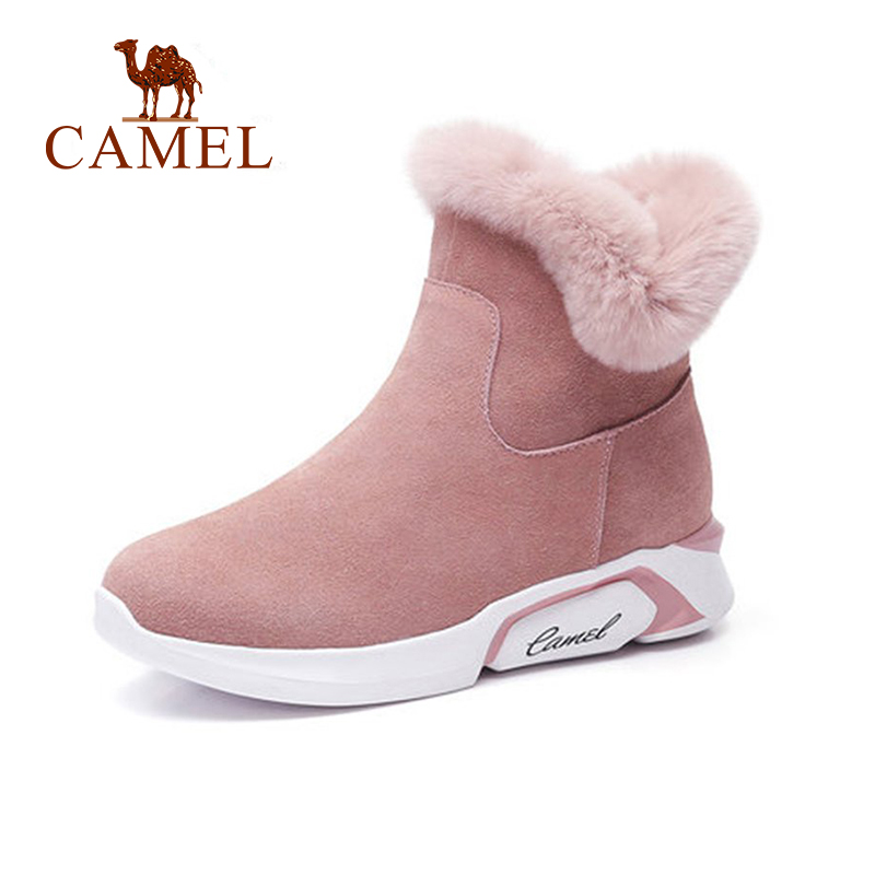 CAME Ankle Furry Snow Boots Shoes 2018 Winter Leisure Snow Boots Shoes Women Plus Velvet Non slip Shoes For Ladies