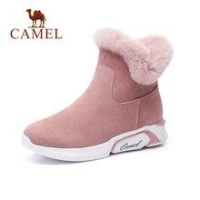 CAME Ankle Furry Snow Boots Shoes 2018 Winter Leisure Snow Boots Shoes Women Plus Velvet Non-slip Shoes For Ladies