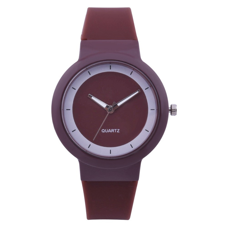 Fashion women watches bracelet watch ladies Silicone Band Analog Quartz Round Wrist Watch Watches clock Relogio Masculino S20 (3)