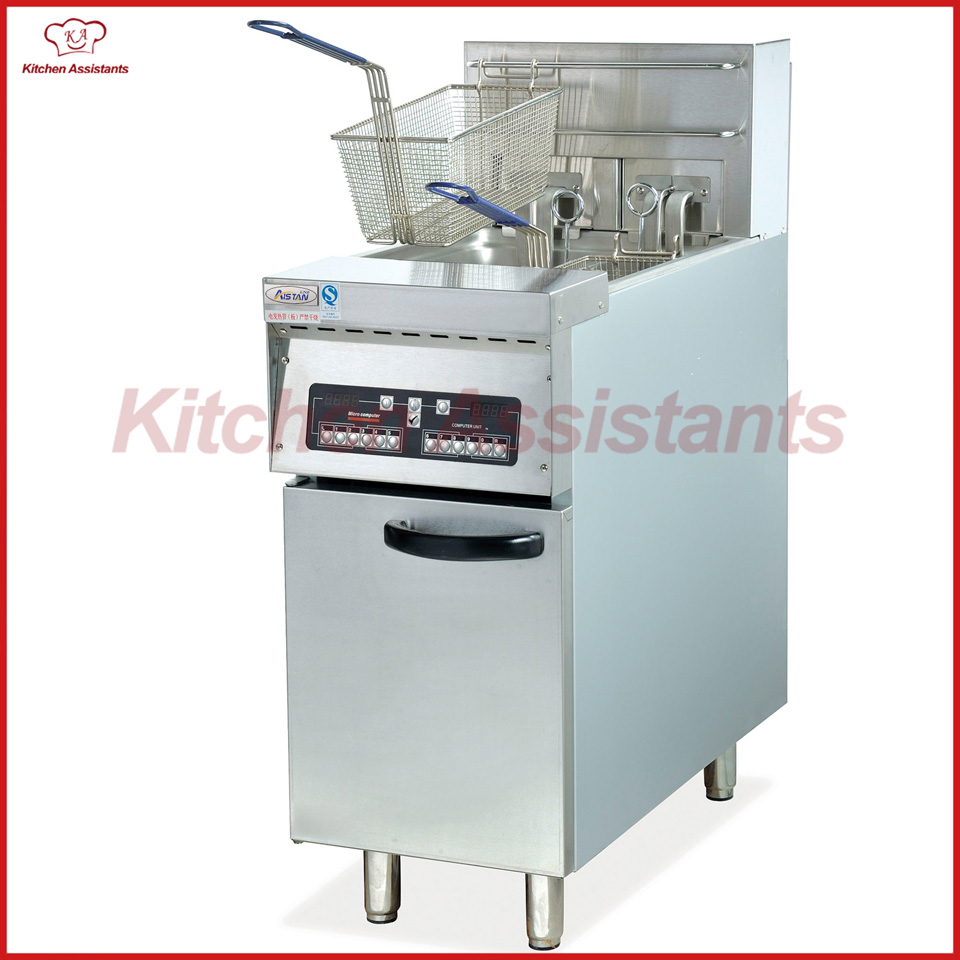 цена на DF30 1 tank electric computer free standing chicken chip chicken fryer of catering equipment