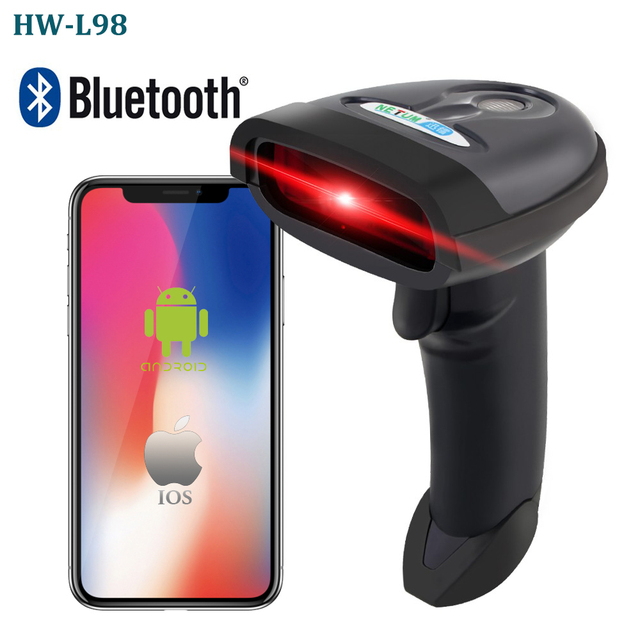 HW-L98 Portable Wireless Barcode Scanner And HW-L28BT Bluetooth 1D/2D QR PDF 417 Bar Code Reader Support Android iOS iPad Window 2