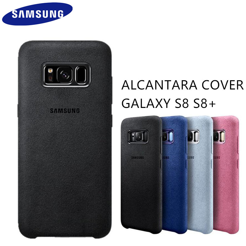 the latest 8e85f db7f1 US $12.74 39% OFF|GENUINE Original Samsung Galaxy S8 S8 Plus S8+ Case g9550  9500 ALCANTARA Back Leather Cover Protection Case 4 color Anti Fall-in ...