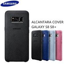 Оригинальные samsung Galaxy S8 S8 плюс S8 + Case g9550 9500 Алькантара назад кожаный чехол защитный футляр 4 цвета анти-осень