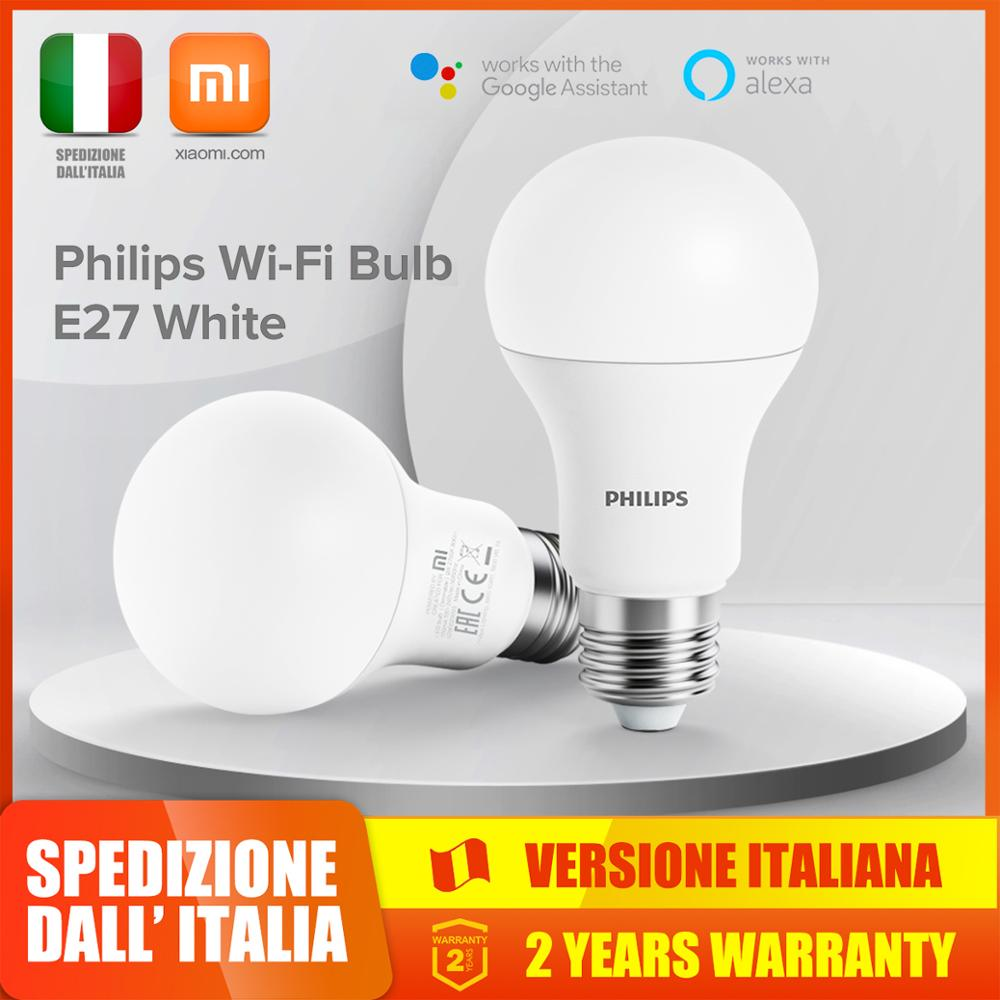 Xiaomi Philips Smart LED Bulb WiFi E27 APP Remote Control with Alexa &  Google Assistant