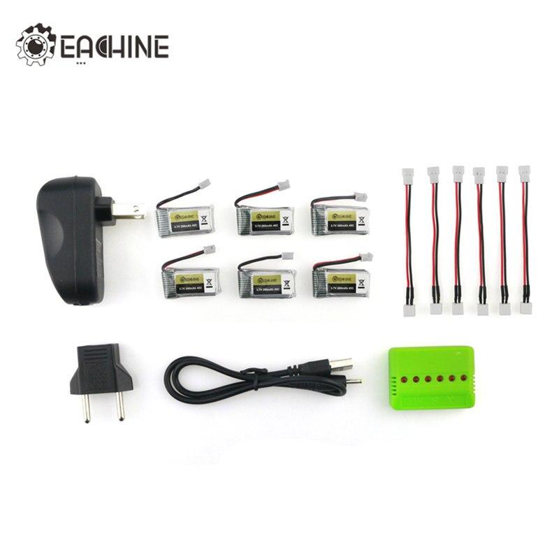 4 stücke/5 stücke/6 stücke Eachine E010 E010C E011 E013 Mini RC Drone FPV 3,7 V 260 MAH 45C Lipo Ladegerät Batterie Aufladen Combo