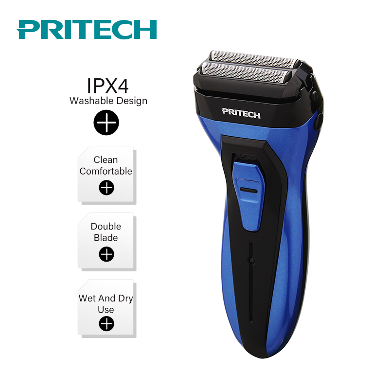 PRITECH 100-240V Rechargeable Electric Shaver Wet and Dry Mens Razor Bread Trimmer Barbeador Shaving Machine Dropshipping #1409 flyco fs719 wet dry twin shaving machine for men beard razor barbeador eletrico masculino man must haves barbeador
