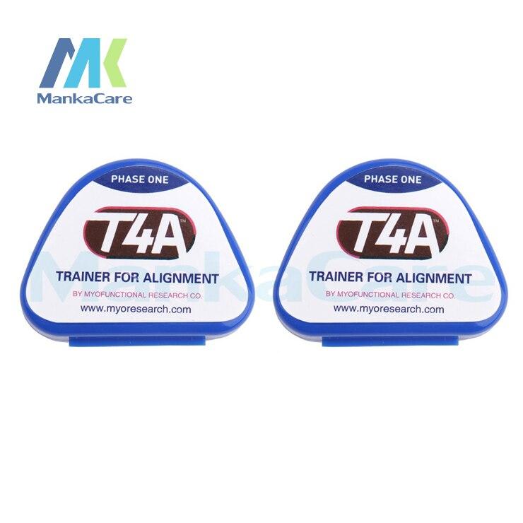2 pces dental ortodontico trainer t4k dentes ortodonticos crianca adulto aparelho trainer para dentes em linha