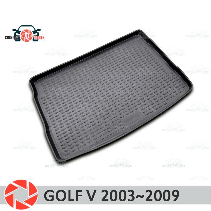цена на Trunk mat for Volkswagen Golf V 2003~2009 trunk floor rugs non slip polyurethane dirt protection interior trunk car styling