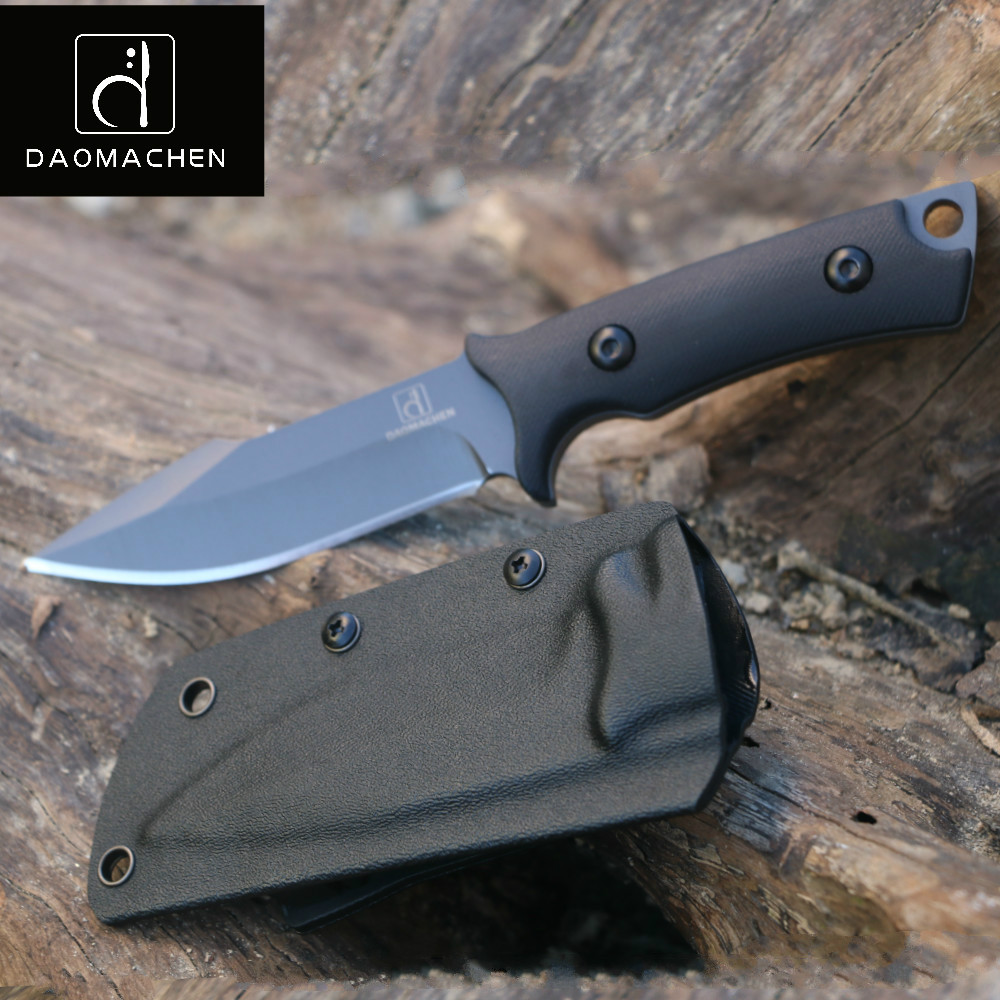 DAOMACHEN fixed blade camping survival Hunting Knife With Imported K sheath G10 Handle Outdoor Knife цена и фото