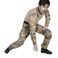Tactical Military Uniform Clothing Army Combat Uniform Tactical Pants With Knee Pads Camouflage Hunt Clothes