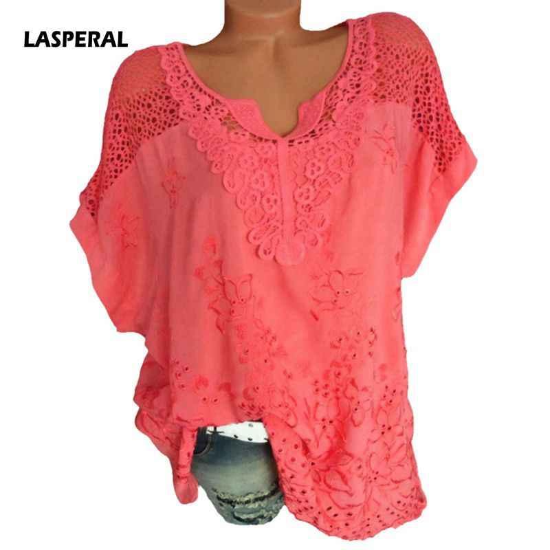 112275bf LASPERAL Floral Print Women Blouse Summer Top Plus Size Long Sleeve Shirt  Harajuku Print Blusa Feminina