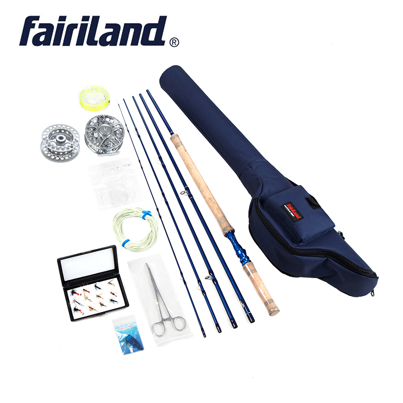 Portable Fly Fishing combo 6 7 7 8 8 9 5 sections fly rod fly reel