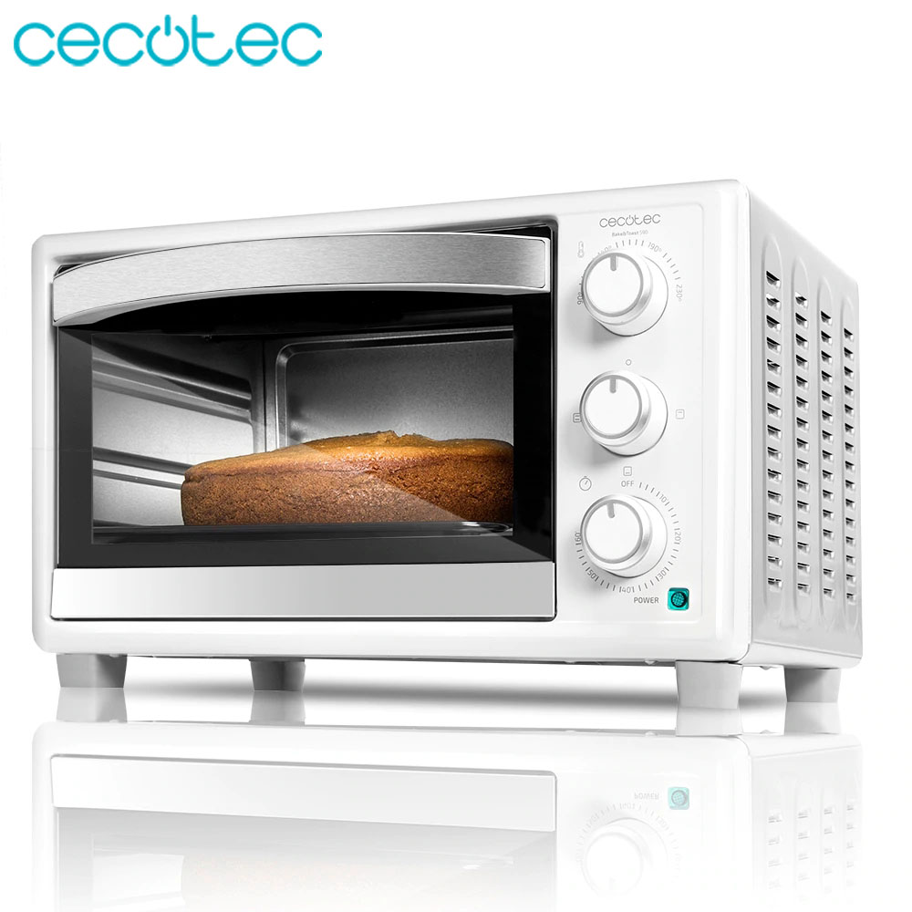 Cecotec Bake & Toast 590 Toaster Oven 23 Liters 3 Heat Modes Timer Up To 60min Includes Baking Tray Grill And Handle 1500 W
