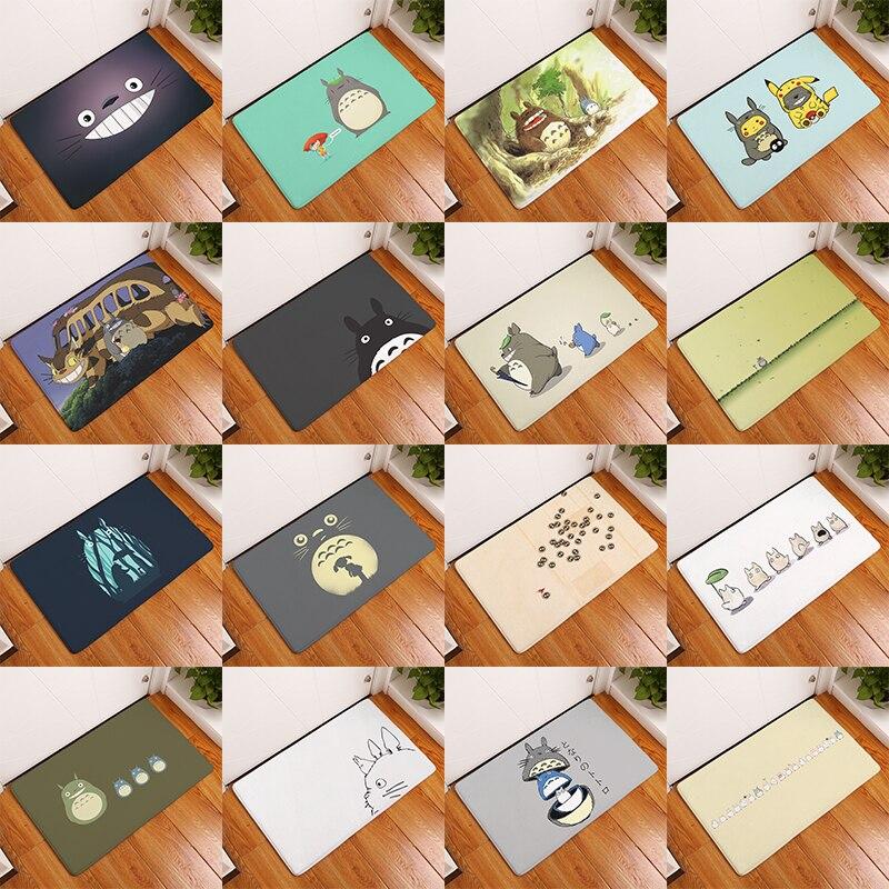 40x60cm Cartoon Totoro Cat Cute Doormat Animal Printed Rectangular Door Mat 40*60cm Entrance Carpet For Kitchen Floor Bathroom
