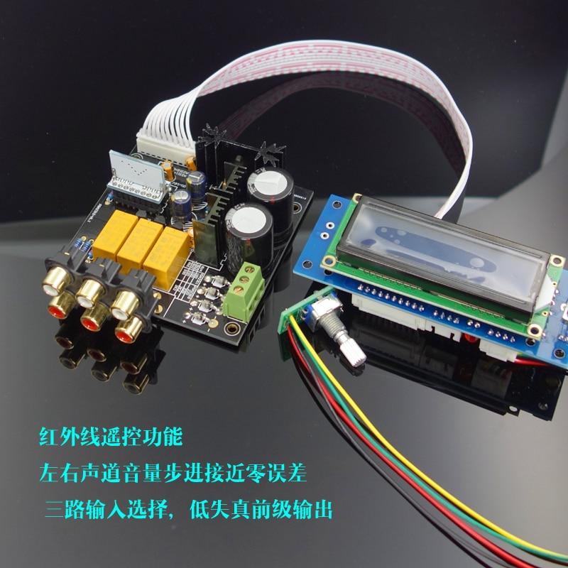 New F6--PGA2311 / PGA2310 remote preamplifier board Remote volume control Finished board цены