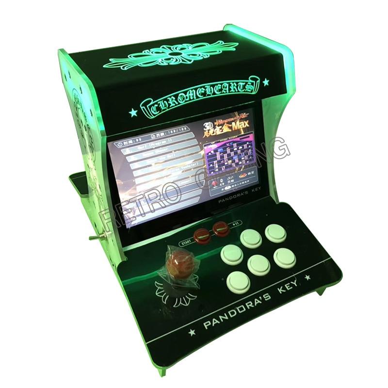 135pcs 3D PandoraKey 2650 In 1 Acrylic Bartop 2 Player Mini Arcade Game Machine 10.1 Inch Monitor VGA/HDMI Output