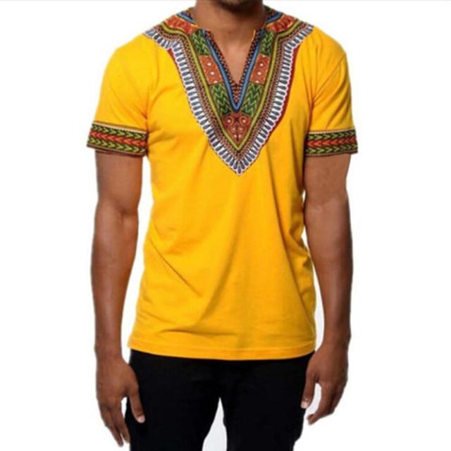 f471de382943 2018 Summer Tribal Tshirt Men African Clothing Dashiki Clothes Knitting  Stitching Batik Printing Short Sleeve Tops man's T shirt