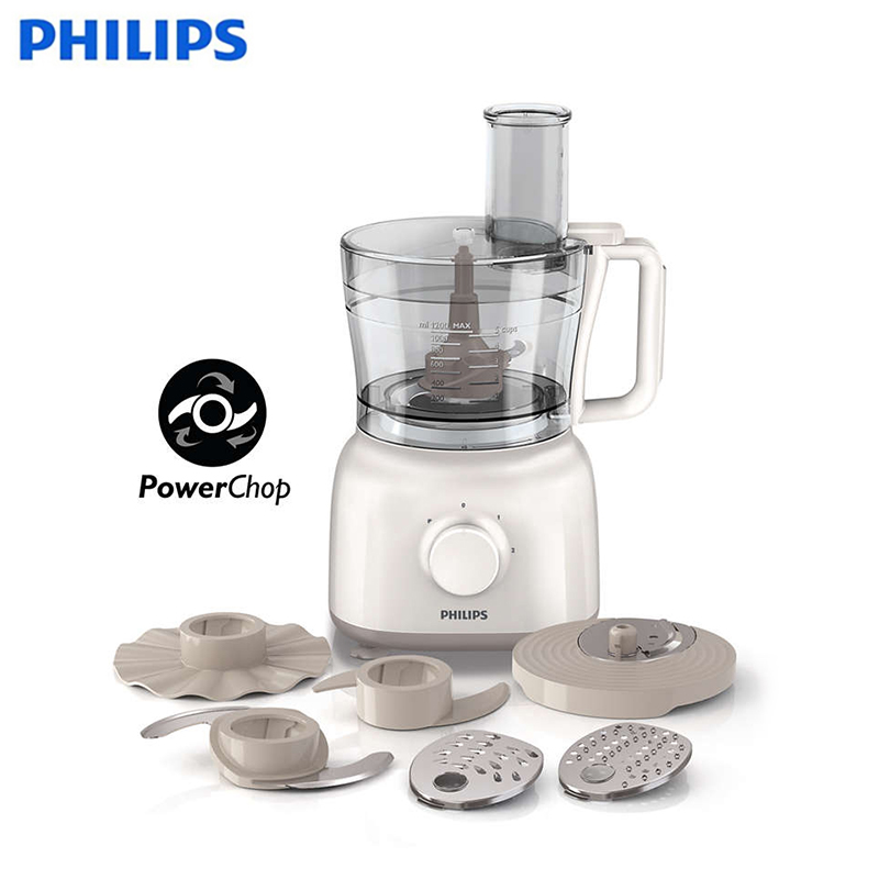 Food processor Philips Daily Collection HR7627/00 бутербродница philips hd 2392 00 daily collection белая