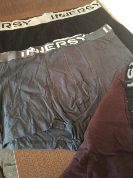 Innersy Panties Mens 4Pcs\lot Underwear Soft Boxers Modal Boxer Men Solid Boxer Shorts Plus Size Boxers Mens Underwear Lot