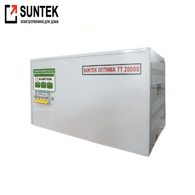 Voltage stabilizer thyristor SUNTEK Optima TT 20000 VA AC Stabilizer Power stab Stabilizer with thyristor amplifier цена и фото