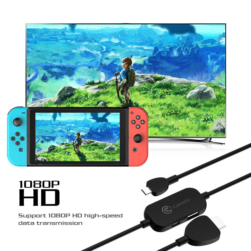 GameSir GTV120 20V/3A Mini 1080P HDMI Display Adapter and  Converter Cable Best For Nintendo Switch /HUAWEI/Samsung/Microsoft