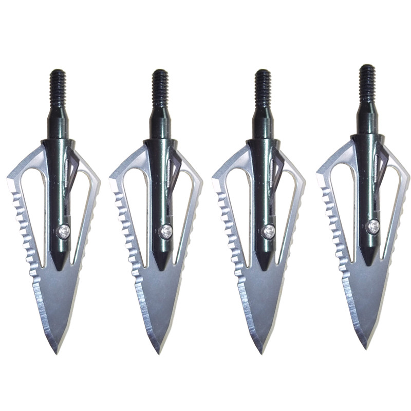 6pcs Hunting Arrowhead 100Gr Steel Broadhead Arrow Point Target Shooting Tips Crossbow Compound Recurve Bow Head-in Bow & Arrow from Sports & Entertainment