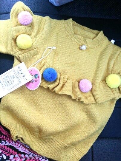 Ins dziecko dziewczyny swetry dzieci Handmade Pom Pom sweter płaszcze dla dziewczyny wiosna jesień dzieci z dzianiny z długim rękawem ubrania