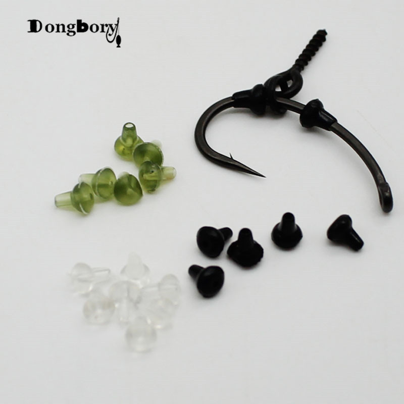 50PCS Hook Stops Beads Carp Fishing Accessories Stoper Clear Green Black Carp Fishing Hair Chod Ronnie Rig Pop UP Boilies Stop(China)