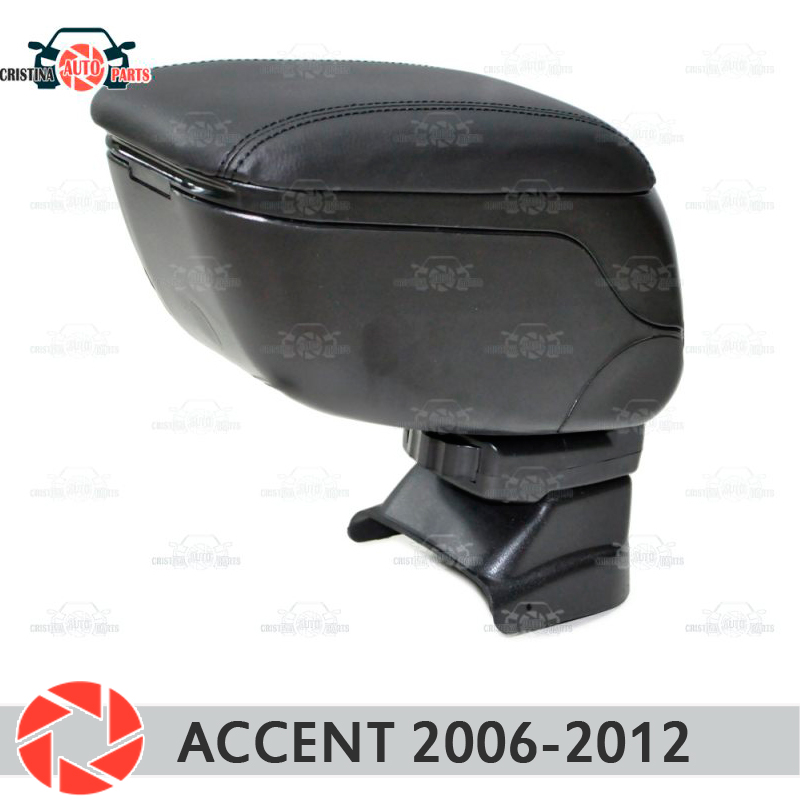 For Hyundai Accent Tagaz 2006- car armrest central console leather storage box ashtray accessories car styling