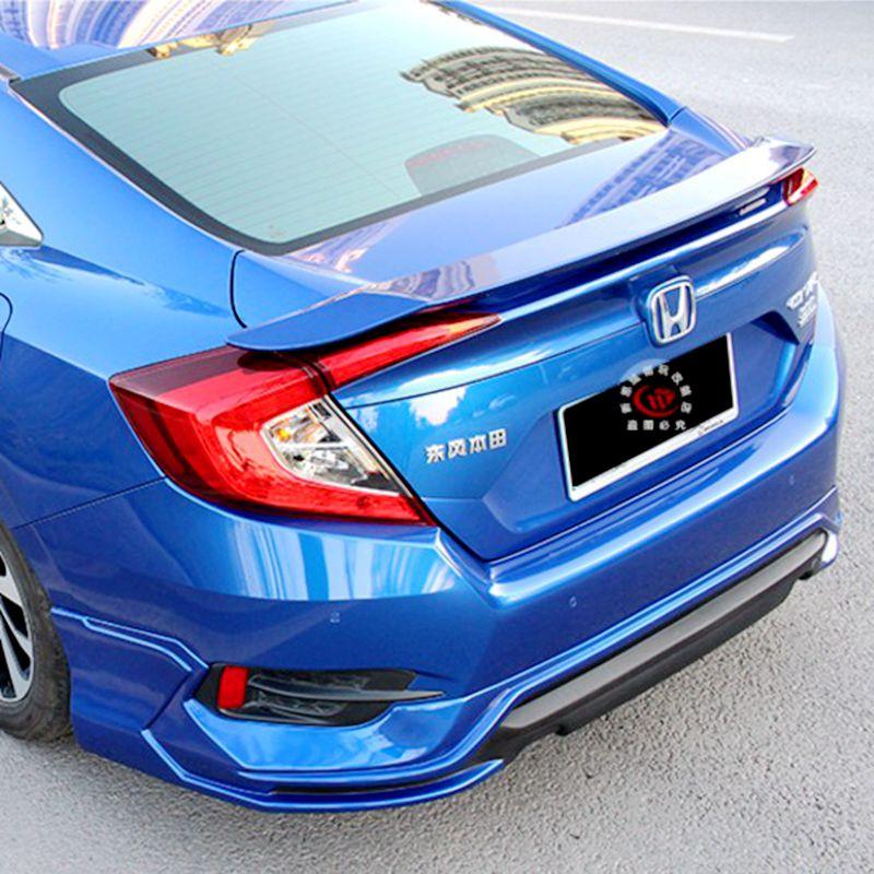 For Honda Civic Spoiler of the tail Material Car Rear Wing No color Color Rear Spoiler Rear Wing Spoiler With Led Light 2016 цена