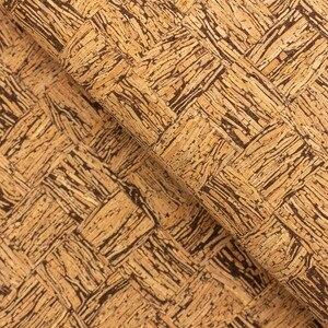 Португалия пробковая ткань 68x5 0 см/135x100 см квадратная коричневая и натуральная кожа веганская Водонепроницаемая износостойкая ткань COF-138