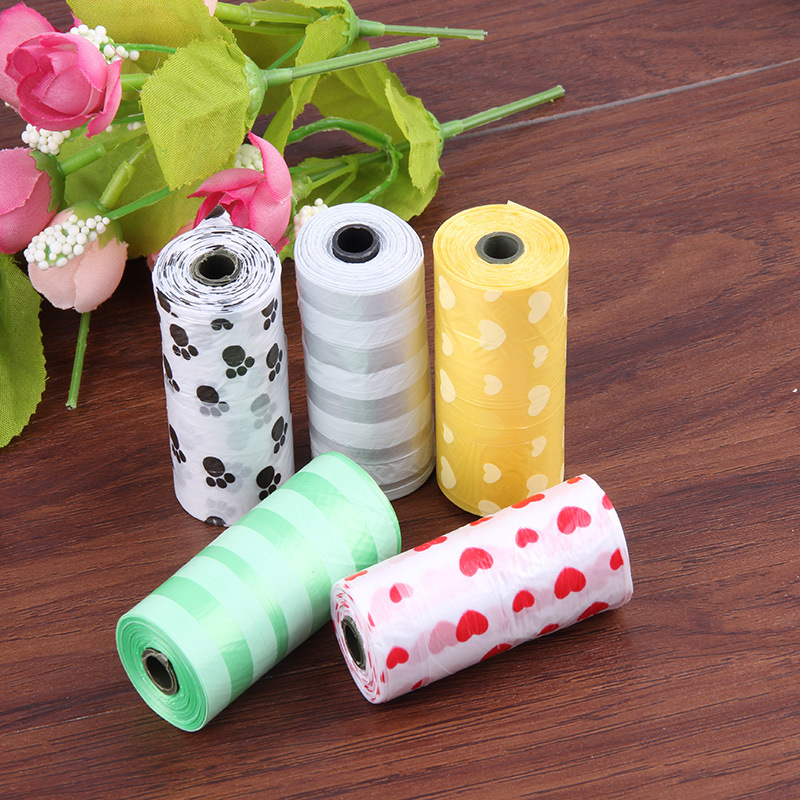 15pcs(1roll=15pcs) Eco-Friendly Dog Poo Faeces Clean Up Bags Waste Dog Poop Shit Litter Bag For Dogs Excrement Pet Supplies