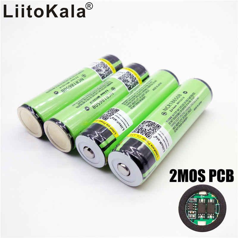 LiitoKala 2 CHIẾC Ban Đầu 18650 3400 mAh Bảo Vệ pin 3.7V Lý-Lon Rechargebale Pin + tự do mua sắm