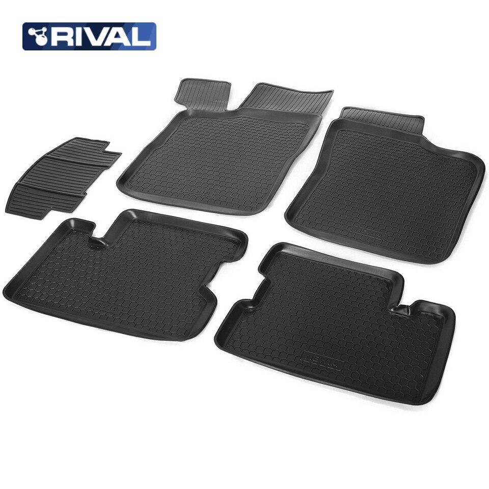 For Daewoo Nexia 2011-2016 floor mats into saloon 5 pcs/set Rival 11302001 фаркоп daewoo nexia 3 5 дв 95 97 9